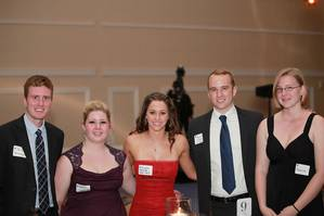 Scholarship winners at the Coast Guard Foundations DC Dinner