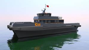 CTruk Semi-SWATH26 Crew Transfer Vessel (CTV) concept render (Image courtesy of CTruk)