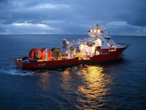 The Fugro Symphony cable-lay vessel (Photo: Fugro)