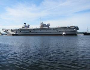 HMS Queen Elizabeth afloat, developed with SENER's FORAN System (©BAE Systems)