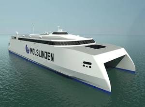 The new Molslinjen high-speed ferry (Image: Wärtsilä)