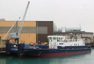 The London Titan in build at Manor Marine (Photo courtesy of Seawork International)