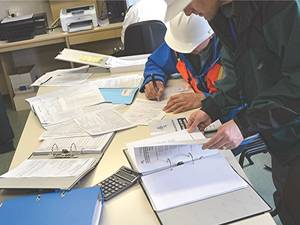 Port State Control inspection of BW records (Photo: Assure Controls)