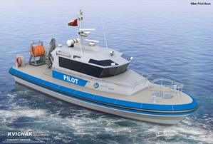 An artists rendering of the pilot boat (Photo by Kvichak Marine Industries)