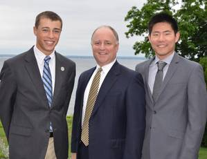 Tom Crowley with Nicholas Ratinaud (left) and Andrew Ko (right). (Photo: Crowley)