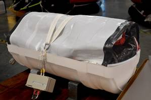 The heating blanket developed by SurvitecZodiac makes all of its liferafts suitable for Arctic use (Photo: Survitec)