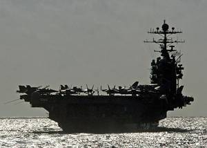 The Nimitz-class aircraft carrier USS George Washington (CVN 73)  U.S. Navy photo by Photographers Mate Airman Michael D. Blackwell II