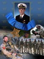 Photo Illustration commemorating the Medal of Honor presented posthumously to Lt. Michael P. Murphy (Sea, Air, Land). U.S. Navy Illustration by Mass Communication Specialist 2nd Class Jay Chu