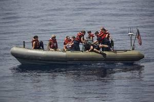 A Navy RHIB:Photo courtesy of USN