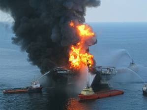 The 2010 Deepwater Horizon explosion (Photo courtesy of the U.S. Coast Guard)