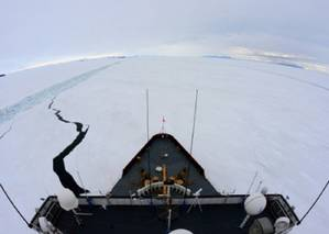 The view from the Polar Star (US Coast Guard photo by Petty Officer 1st Class George Degener)