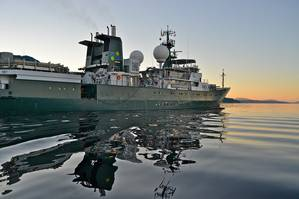 The RV Falkor (Photo courtesy of the Schmidt Ocean Institute)