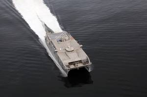 The USNS Trenton in action (photo courtesy of Austal)