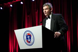 Mike Petters was recognized at the 35th annual Salute to the U.S. Coast Guard for his support of the Coast Guard Foundation and its mission. (Photo: Coast Guard Foundation)