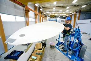 Wind Turbine Blade: Photo courtesy of UMaine