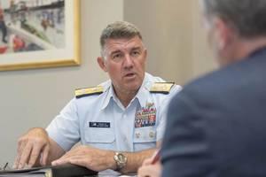 Admiral Karl Schultz, Commandant of the Coast Guard, U.S. Coast Guard. Photo: USCG