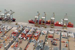 Berth 2 now fully operational as five new services start up at DP World London Gateway