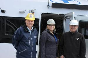 Brothers and co-presidents Peter Duclos (left) and John Duclos flank sister Carol Hegarty, CFO. Photo: Greg Trauthwein