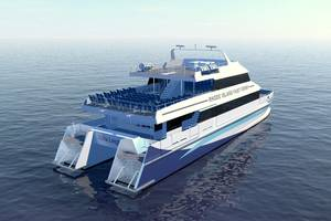 CAT ferry for Rhode Island Fast Ferry Photo Incat Crowther