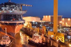 Celebrity Edge was floated out at the STX France shipyard in Saint-Nazaire (Photo: STX France)