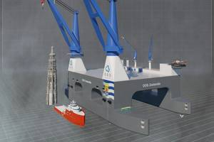Developers OOS International and China Merchants Industry Holdings tout OOS Zeelandia as the world's largest semi-submersible crane vessel (Image: OOS International)