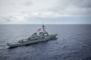 File photo: Arleigh Burke-class guided-missile destroyer USS Benfold (DDG 65) in August 2017 (U.S. Navy photo by Benjamin A. Lewis)