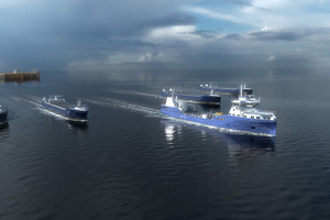 Eidsvaag Pioneer, which will be equipped for remote-operated and autonomous transport as part of the AUTOSHIP project Photo: Kongsberg
