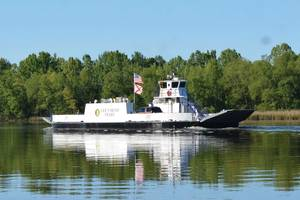 Ferry First Alabama's Gee's Bend Ferry recently entered service after being converted from geared-diesel to become the first zero-emission, electric-powered passenger/car ferry in the U.S. Owned by the Alabama Department of Transportation (ALDOT) and operated by HMS Ferries, Seattle-based Glosten provided concept through contract design and shipyard technical support of the vessel conversion to all-electric. Images courtesy Glosten/ALDOT