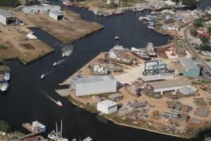File Image: An aerial view of Horizon Shipbuilding's Bayou La Batre, Alabama facilities. CREDIT: Horizon Shipbuilding