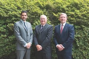 From left to right: Theo Xenakoudis, IRI Managing Director, Greece; Bill Gallagher, IRI President; and John Ramage, COO, IRI. (Phoo: IRI)
