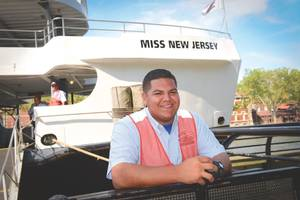 Kevin Suarez, a Dock Attendant for Statue Cruises (Credit: David Handschuh)