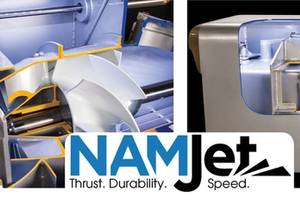 NAMJet's high-clearance impellers and low-RPM operating range provide exceptional thrust while maintaining top end speed.