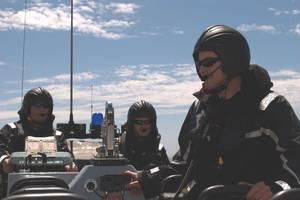 RHIB crew with DIAMOND intercom and radio communications system. Image credit: Drumgrange