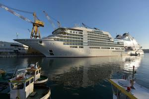 Seabourn Encore is the first cruse ship to be delivered Photo Fincantieri