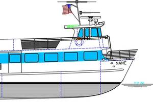 The 85 ft. ferry Blount will build for Fire Island Ferries. (Image: Blount Boats)