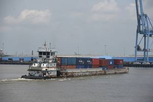 The Baton Rouge-NOLA container on barge service / (CREDIT: Port of New Orleans)
