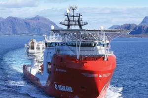 The DP2 multi-purpose service and ROV vessel, the Siem Spearfish, operates globally.