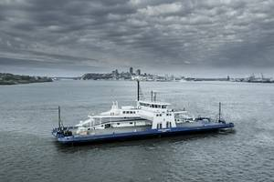 The ferry MV Armand-Imbeau II built for the Canadian operator Société des traversiers du Québec (STQ), will operate on LNG fuel. (Image: Davie Shipyards)