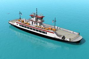 The North Carolina Department of Transportation has ordered a new car ferry for delivery in 2019, its first since 2012 (Image: Elliott Bay Design Group)