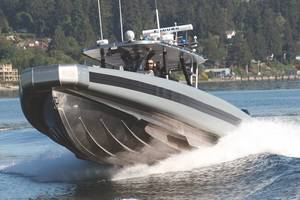 The SAFE Boats 41-foot Coastal Interceptor Vessel (CIV) with advanced design and technology reaches speeds in excess of 54 knots.