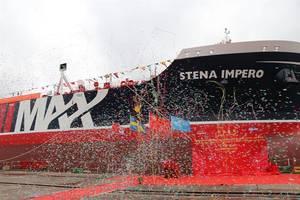 The Stena Impero naming ceremony ended with confetti (Photo: Stena Bulk)