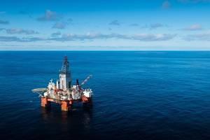 The West Hercules drilling rig in the Barents Sea. (Photo: Ole Jørgen Bratland / Equinor)