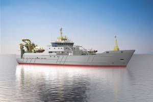 Breakthrough vessel: the mackerel-catching new-build designed by France Pelagique and ASD Ship Design is being built and engineered by Havyard Ship Technology (Image: Havyard Ship Technology)