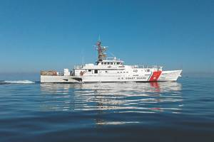 USCGC Benjamin Dailey, the 23rd Fast Response Cutter (FRC) that Bollinger Shipyards has delivered the to the U.S. Coast Guard. (Photo: Bollinger Shipyards)