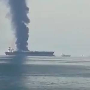 Oil Tanker Ablaze off UAE