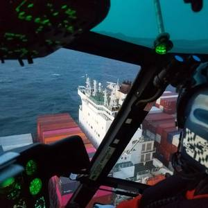 Containership Crewman Medevaced