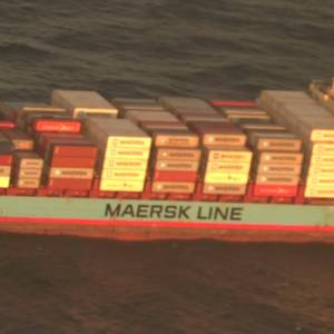 Injured Crewman Medevaced from Disabled Maersk Containership