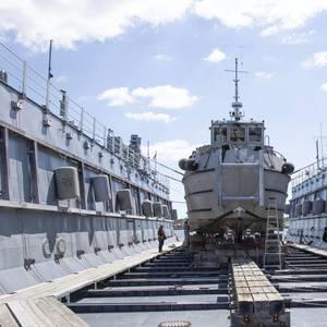 Navy's Oldest Floating Dry Dock Supports First Dive Boat Repairs
