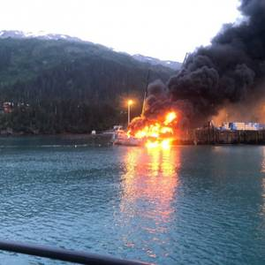 USCG, Stakeholders Respond to Whittier, AK Explosion, Dock Fire