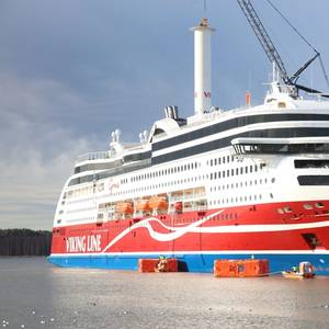 Rotor Sail Installed Aboard Viking Grace